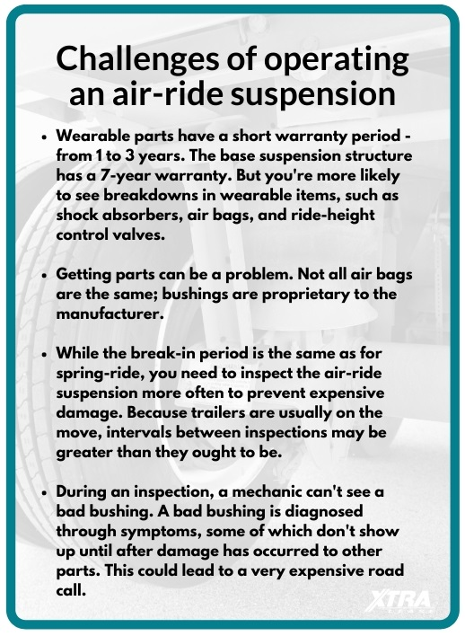 Challenges of operating an air-ride suspension